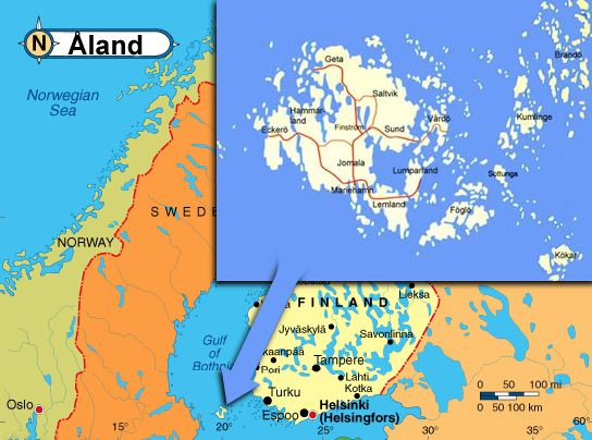 The Aland Islands Aland Islands map